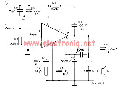 tba810 car audio amplifier circuit electronic project design rh electroniccircuitsdesign com Class D Amplifier Circuit Class A Amplifier Circuit