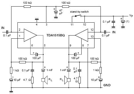 Tda Amplifier Circuit Diagram   Tda1515 Audio Power Amplifier Circuit Diagram