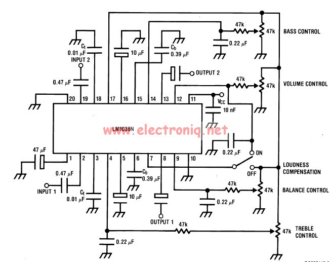 Lm1036 Volume Controller Equalizer Electronic Project
