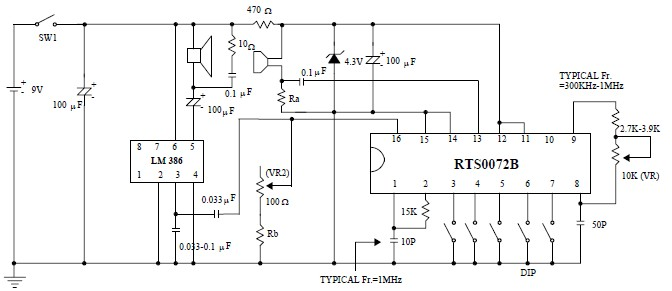 voice changer circuit electronic projects using rts0072b, Wiring circuit