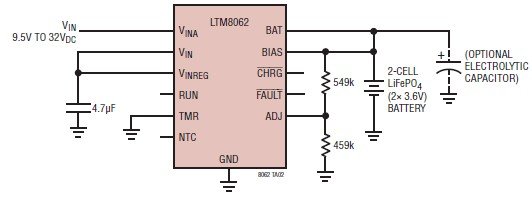 Lithium Battery Charger Circuit Design Using Ltm8062