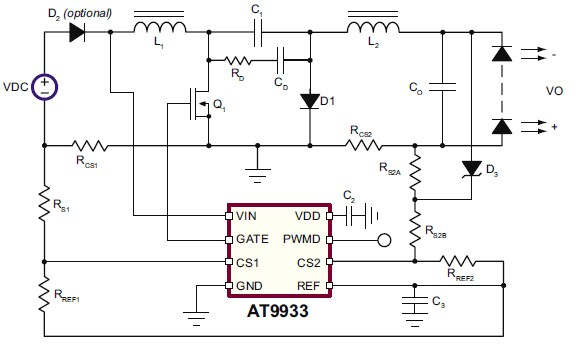led driver project design for automotive applications using at9933