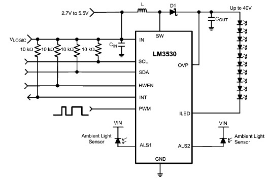 LM3530 led driver lm3530 white led driver circuit design electronic project led drivers diagram at fashall.co