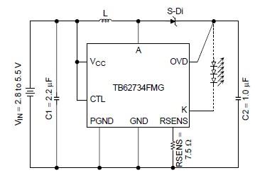 white led driver electronic project using tb62734fmg led driver ic rh electroniccircuitsdesign com