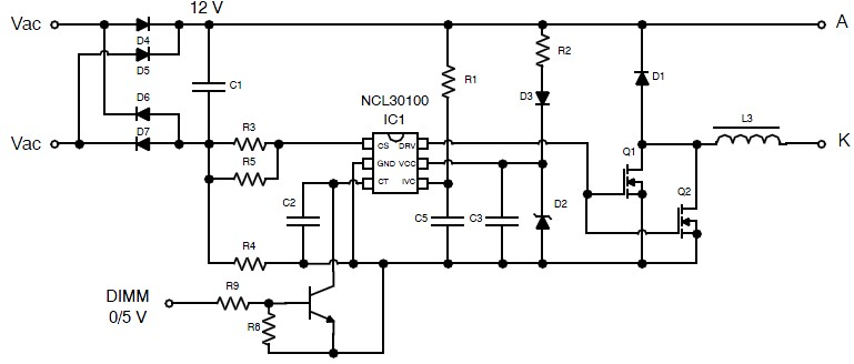 constant current high u2212brightness led driver using ncl30010