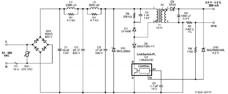 lnkdg led driver circuit design project, circuit diagram