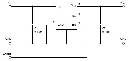 NCP571 NCV571 low power regulator design schematic circuit