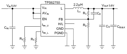TPS62750 synchronous step down dc-dc converter optimized for USB powered applications