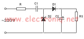 Transformerless power supply circuit design electronic project