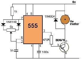 Dc Motor Control Using 555 Timer Circuit on compound motor schematic