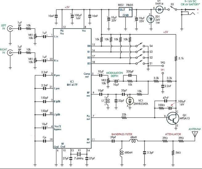 Fm transmitter circuit diagram on radio transmitter circuit diagram