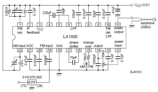 am fm radio circuit diagram wiring diagrams la1800 portable am fm radio circuit design electronic