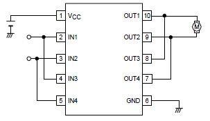 VNH3SP30 E likewise Mengendalikan Motor Dc Dengan Teknik  m further Arduino Stepper Motor Tutorial as well Vhdl Based Robot Part Ii besides Cd Rom Cnc 1. on h bridge motor driver ic