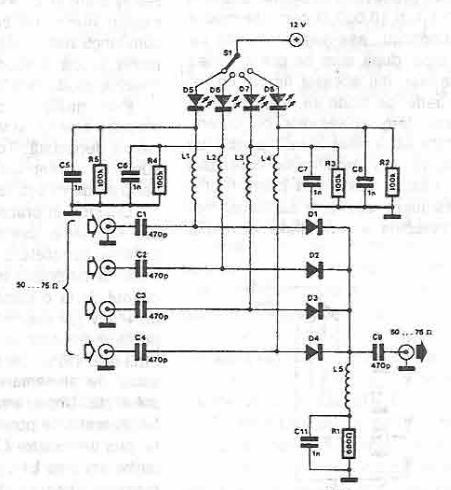 Antenna Selector Circuit Using Pin Diodes on trailer wire diagram 7 pin