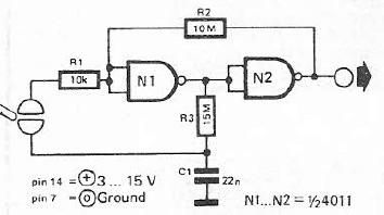 Flip Flop Bistable Circuit as well Toggle Flip Flop 555 Circuit also Bistable Power Relay as well Pulse Latch Relay as well 555 Based Vehicle Turn Signal Circuit. on bistable 555 timer