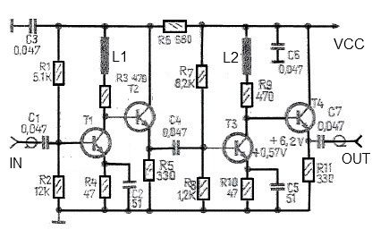 43 Db Antenna Amplifier Circuit Design Project With