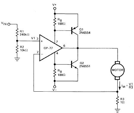 Operational Amplifier Dc Motor Driver