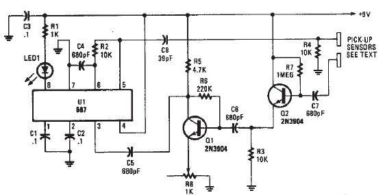 proximity detector schematicproximity detector schematic circuit