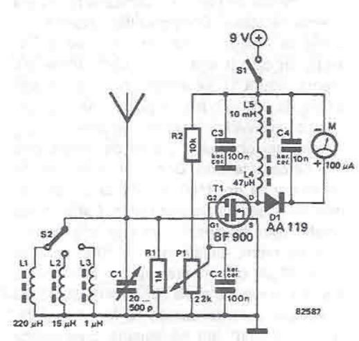 rf field detector circuit diagram, circuit diagram
