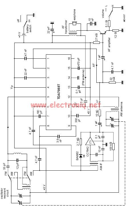 Tda7088t Fm Radio Receiver Circuit on Battery Charger Circuit Diagram