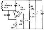 Radio metal detector circuit design project using tranistor