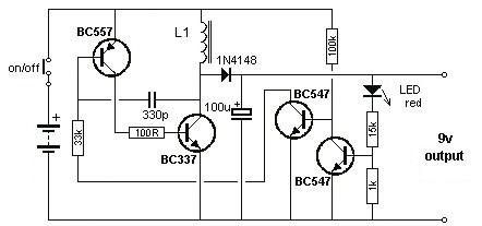 1.5v to 9v dc converter circuit