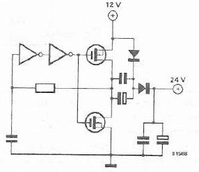 12 to 24 volt converter circuit design project