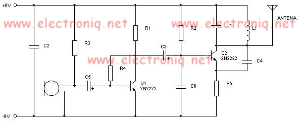 2n2222 Fm Transmitter Electronic Project
