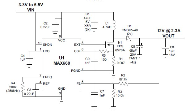 3 to 12 volts step up dc converter using max668 ic 3 to 12 volts step up dc converter circuit diagram using max668 ic publicscrutiny Images
