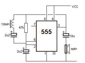 Metal detector circuit with 555 timer ccuart Gallery