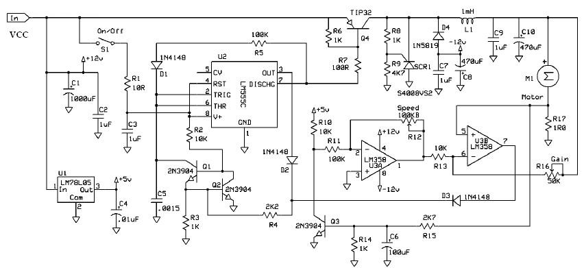dc motor speed controller using 555 timer circuit rh electroniccircuitsdesign com