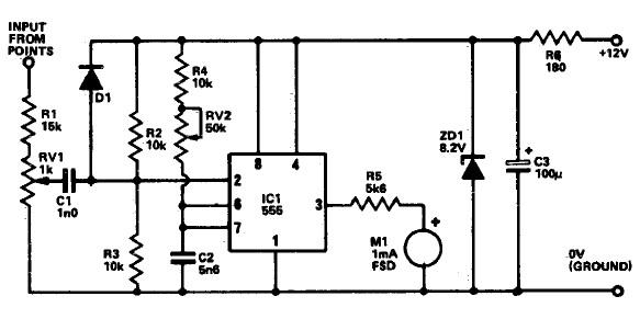 tachometer circuit using 555 timer rh electroniccircuitsdesign com electronic tachometer circuit diagram tachometer circuit diagram pdf