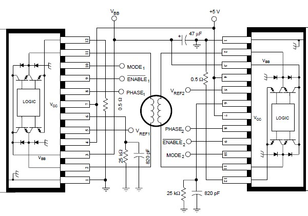 a3952s stepper motor controller circuit design electronic project rh electroniccircuitsdesign com Bipolar Stepper Motor Bipolar Stepper Motor Circuit