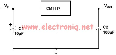 Cm1117 voltage regulator