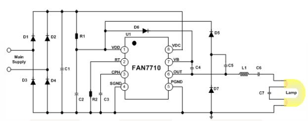 FAN7710 Ballast Control circuit design
