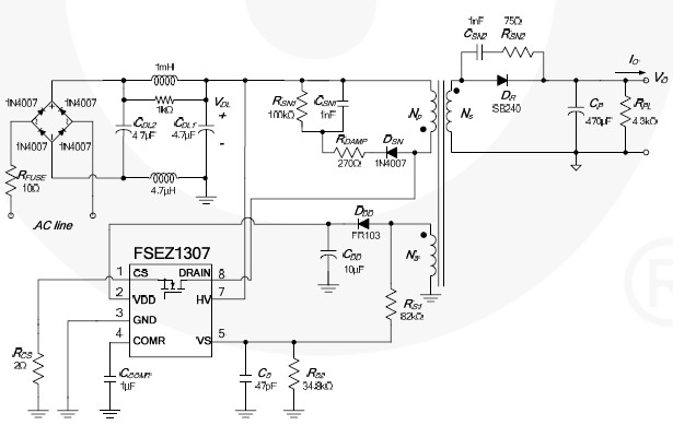 Cell phone charger circuit diagram fsez1307 ccuart Gallery