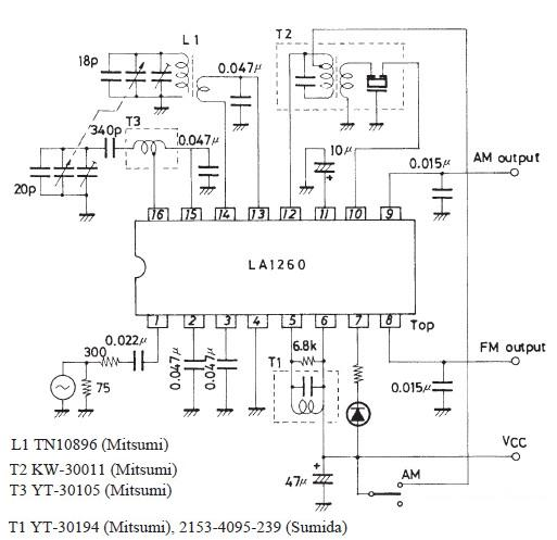 FM IF MW radio receiver circuit schematic diagram