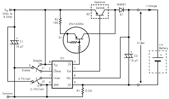 Lithium Ion charger circuit design electronic project using LM3632