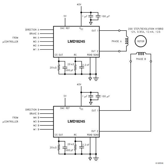 lmd18245 bipolar stepper motor driver circuit design rh electroniccircuitsdesign com
