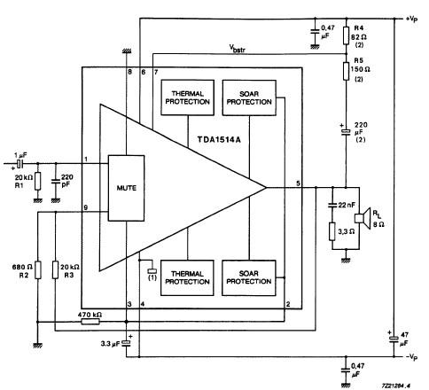 TDA1514 audio amplifier circuit design electronic project