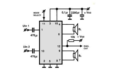 TDA8560 class B power amplifier circuit design