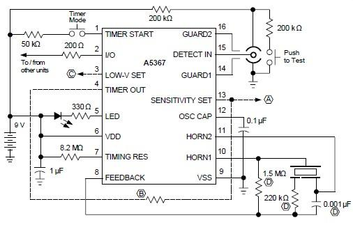 ionization smoke detector circuit diagram