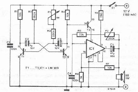 Magnificent Electronic Siren Circuit Using Lm389 Ic Wiring Digital Resources Antuskbiperorg