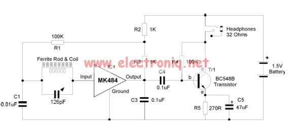 MK484 AM radio circuit design