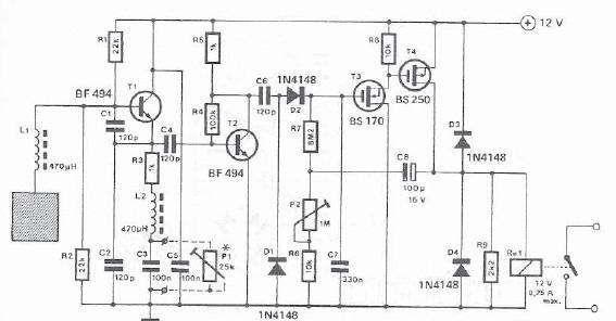Proximity detector electronic project circuit design