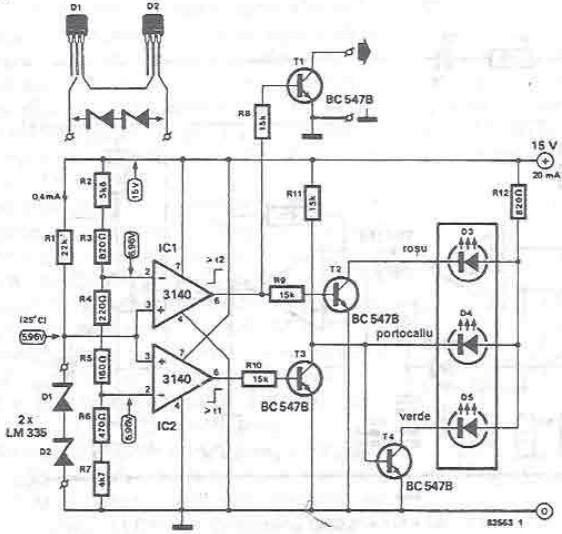 Radiator temperature indicator circuit design electronic project