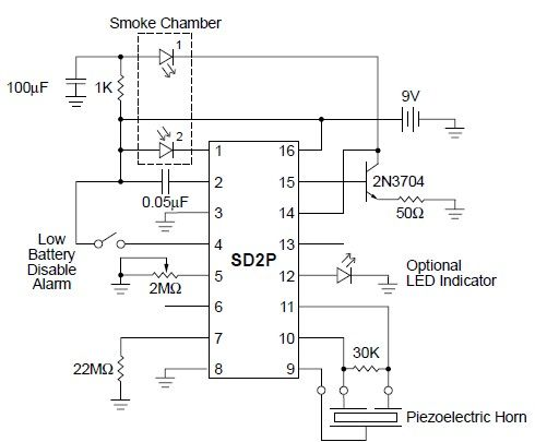 Gold Detector Circuit Diagram | Sd2 Smoke Detector Circuit Diagram 13 16 Yogabeone Bs De