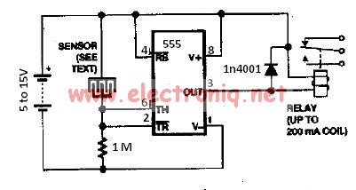 Water sensor circuit using 555 timer on door alarm schematic, audio amplifier schematic, metal detector schematic, pressure tank installation schematic, washing machine schematic, water filter schematic, water system monitoring wells, cable tester schematic, water wheel schematic, control schematic, water system schematic, digital voltmeter schematic, current sense switch schematic,