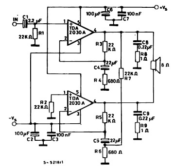 Tda2030 35 Watt Audio  lifier Circuit on subwoofer power amplifier circuit diagram