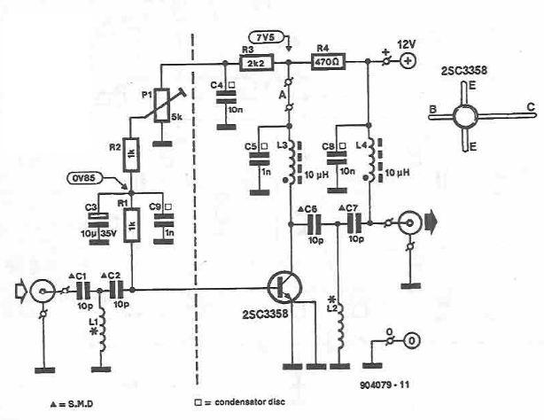 UHF amplifier circuit